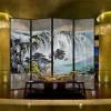 航标厂家直销夹胶夹丝山水画艺术玻璃10年质量保证价格优惠