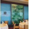 厂家定做热熔玻璃 酒店工程流水背景装饰艺术玻璃lhzz009